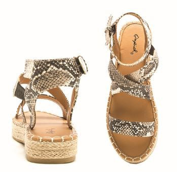 Crisscross Snake Sandals