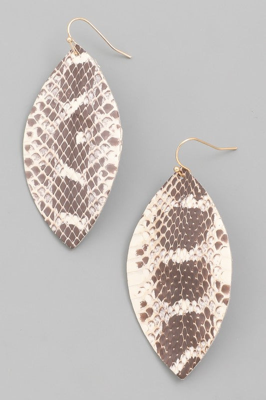 Leather Oval Earrings