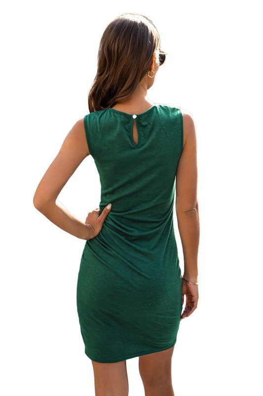 emerald party dress