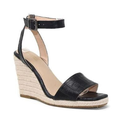 Black Slingback wedge heel