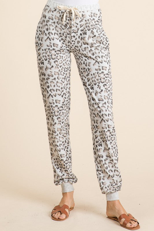 Lewis Leopard French Terry Joggers