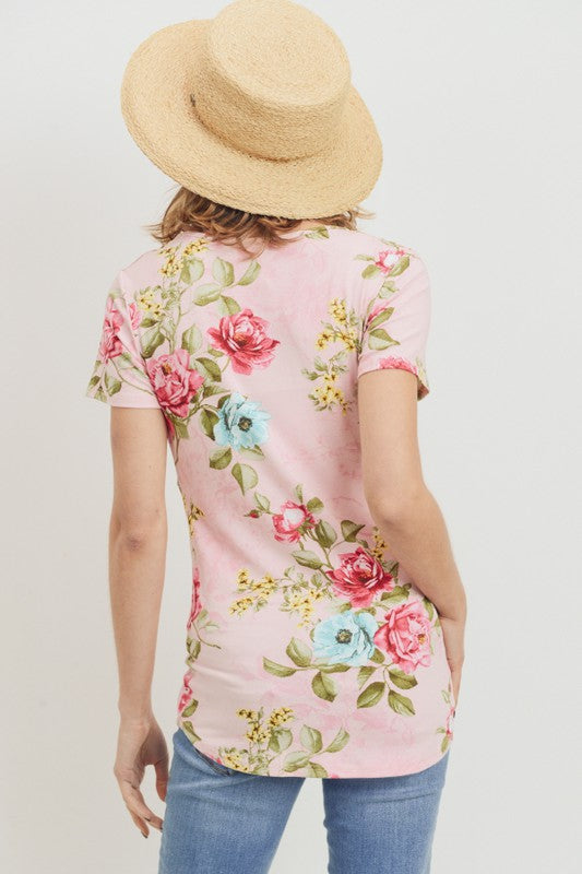 Pink Floral Mama T