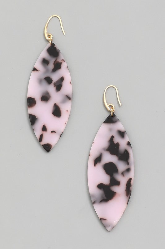 pink leopard earrings