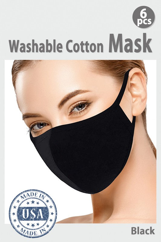 Cotton Face Mask - solid color