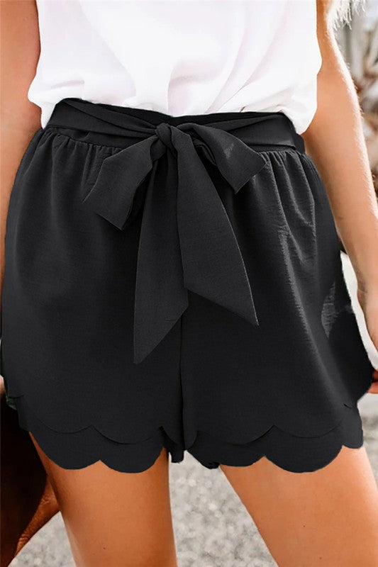 Scallop Edge Summer Shorts