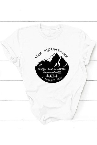 mountains are calling unisex t-shirt