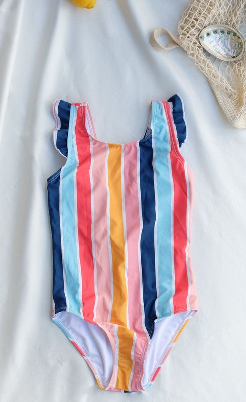 Multi Stripe Little Sora Swimsuit