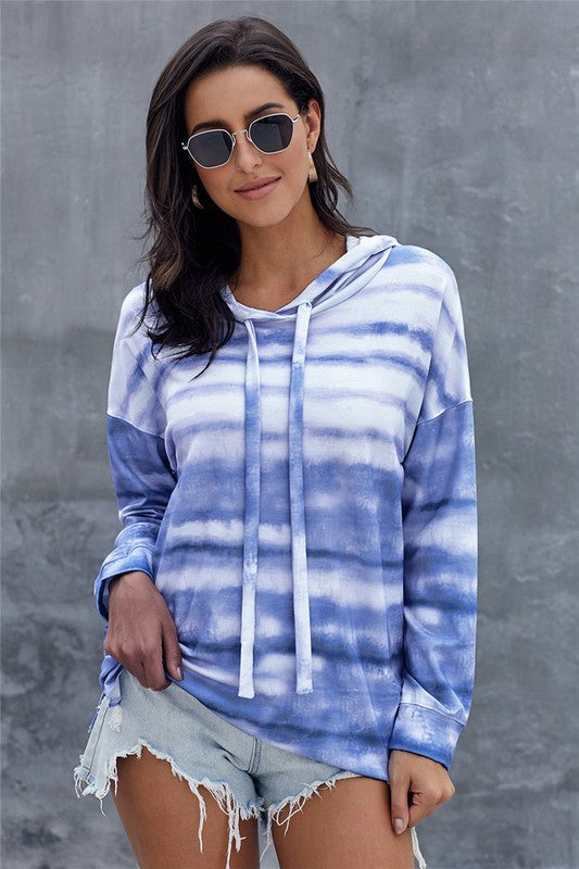 Happy Days lightweight tie dye hoodie