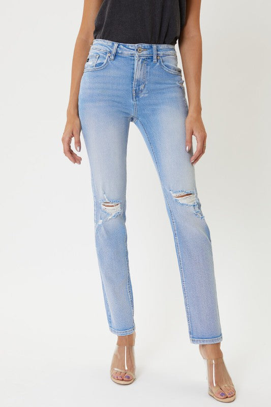 Katie high rise straight jean