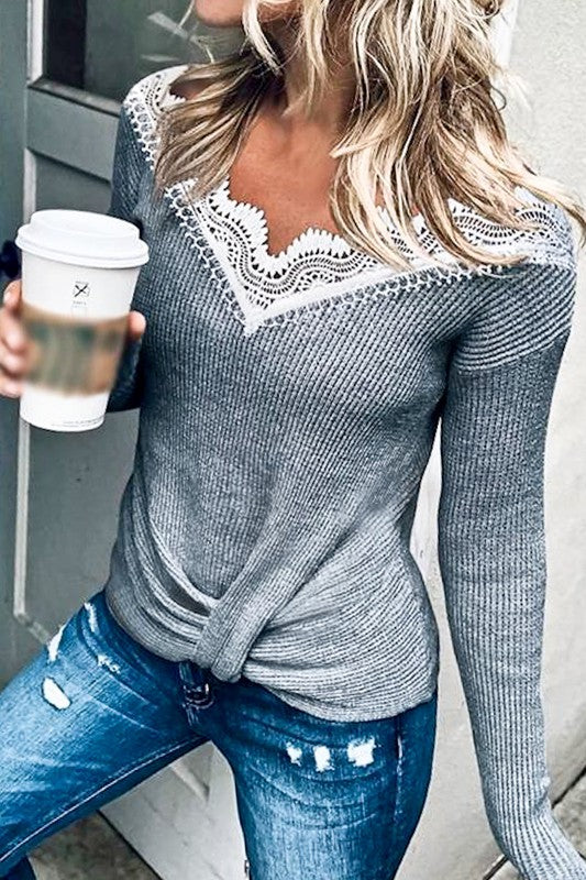 Destiny Lace Sweater Top