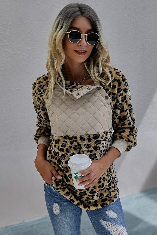 Soft Leopard Pullover