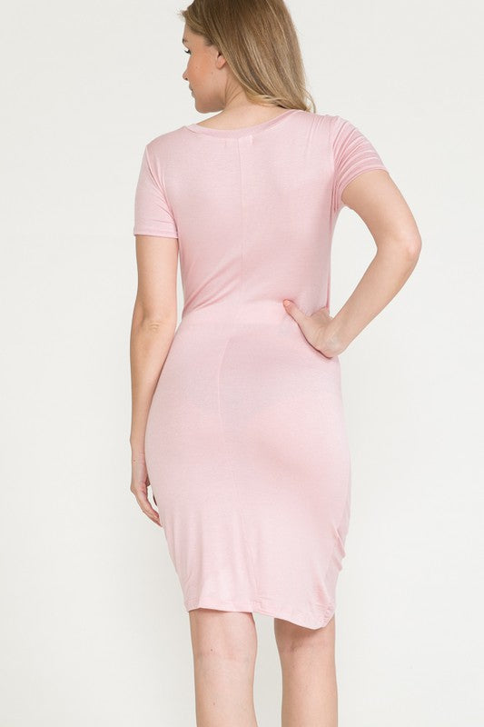 one side wrapped maternity dress