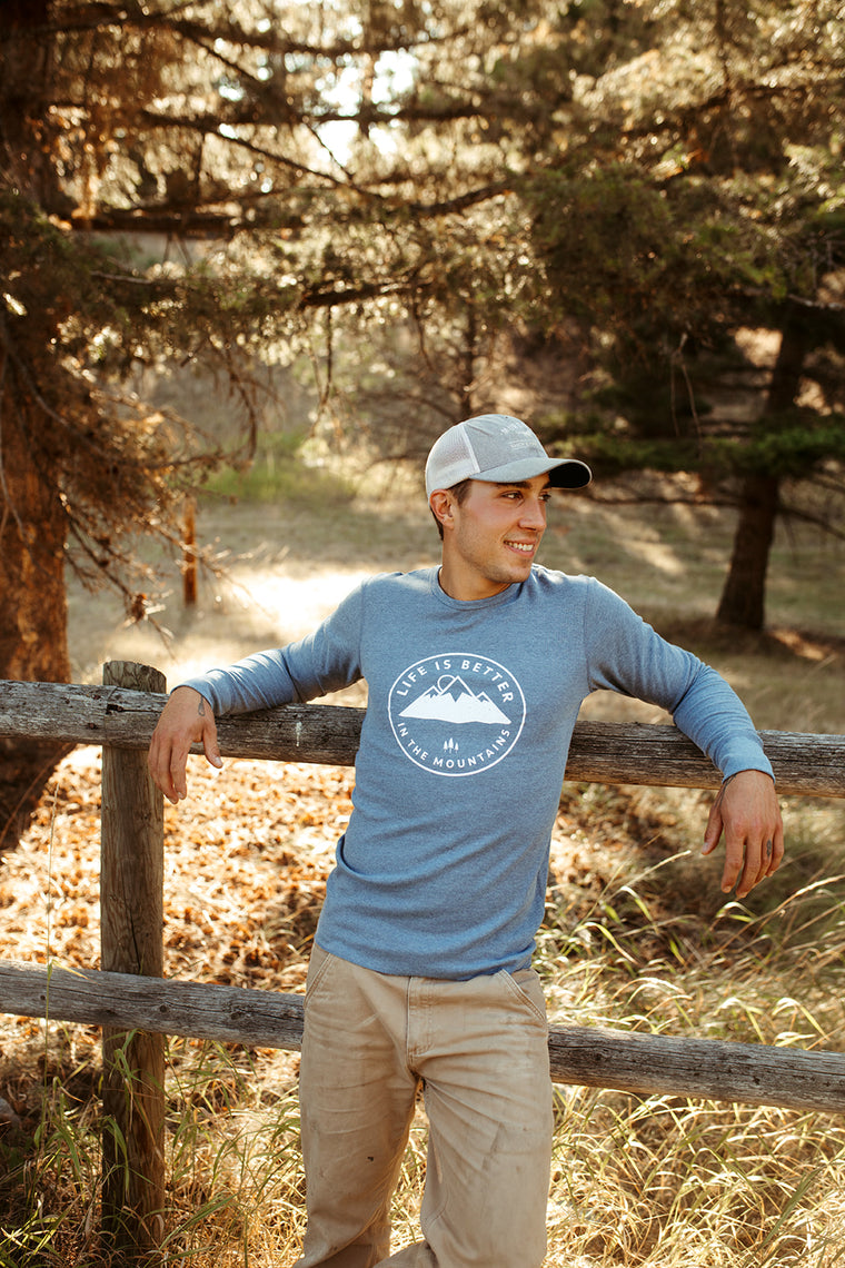 Life is Better in the Mountains Unisex  -Thermal Light Blue