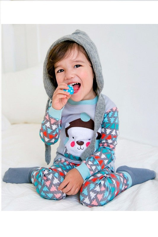 Wool Hat Bear Pj Set