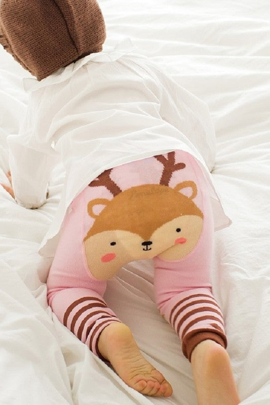 Pink Rudolph Little Sora Leggins