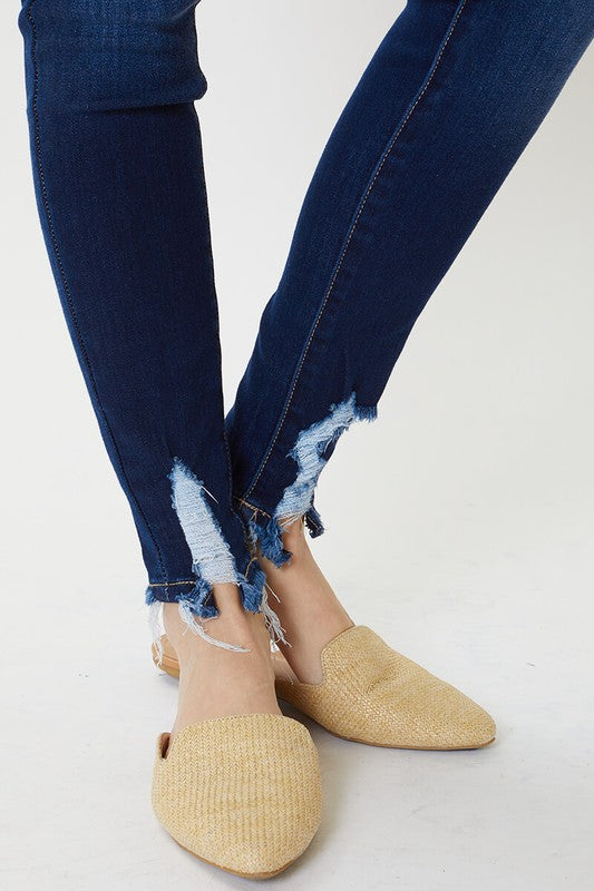Sara Super Skinny Distressed Hem Jeans