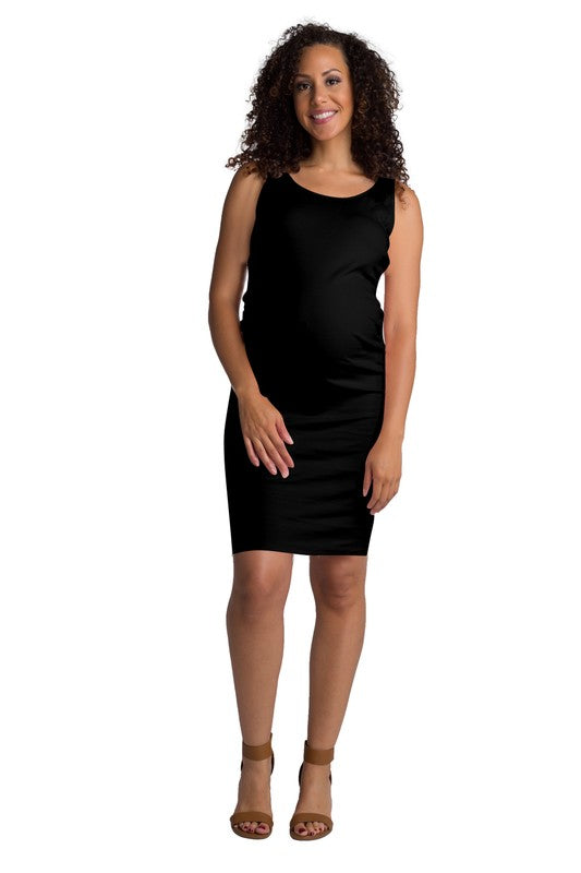 Black Side Rouge Maternity Bodycon Dress