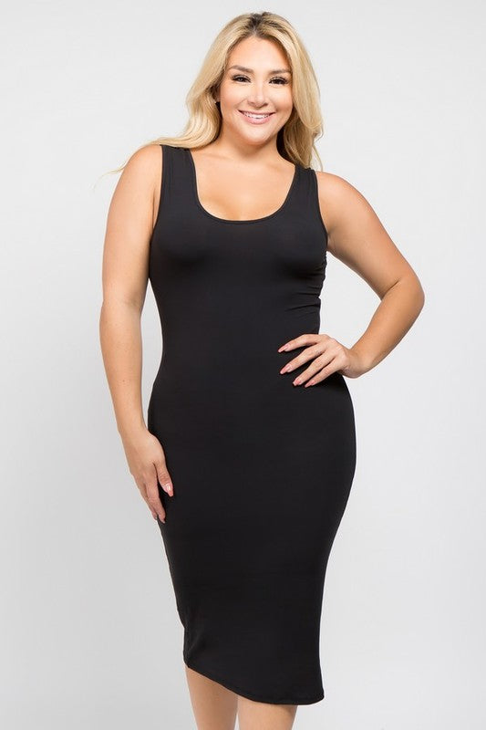 Bodycon Scoop Neckline Dress