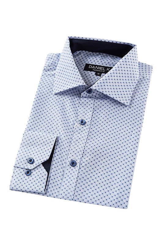 blue star mens button-up
