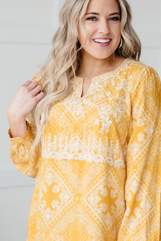 Embroidered In Sunshine Blouse