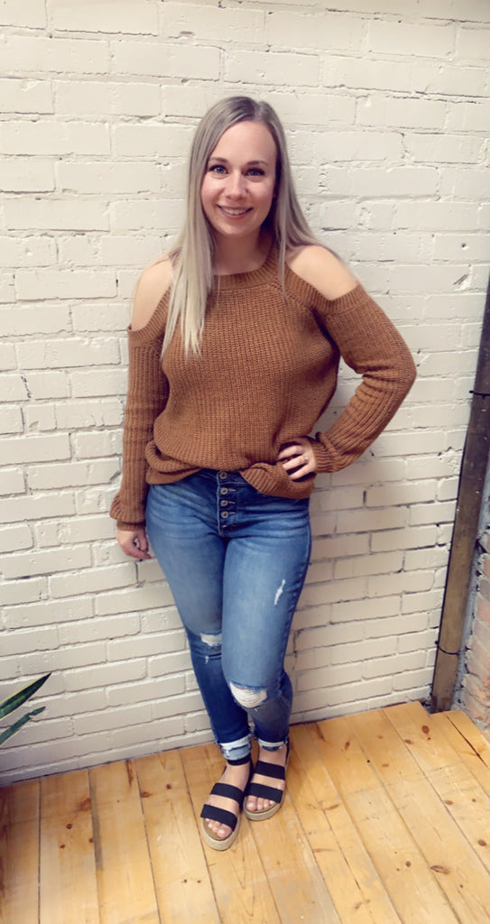 Doreen  Cold Shoulder Sweater