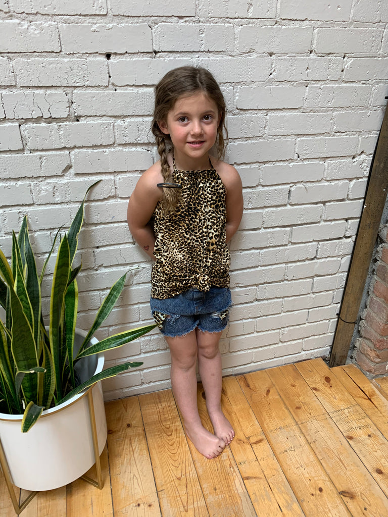 Little Sora Leopard Set - Halter and Shorts
