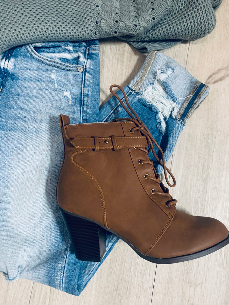 Side Buckle Bootie