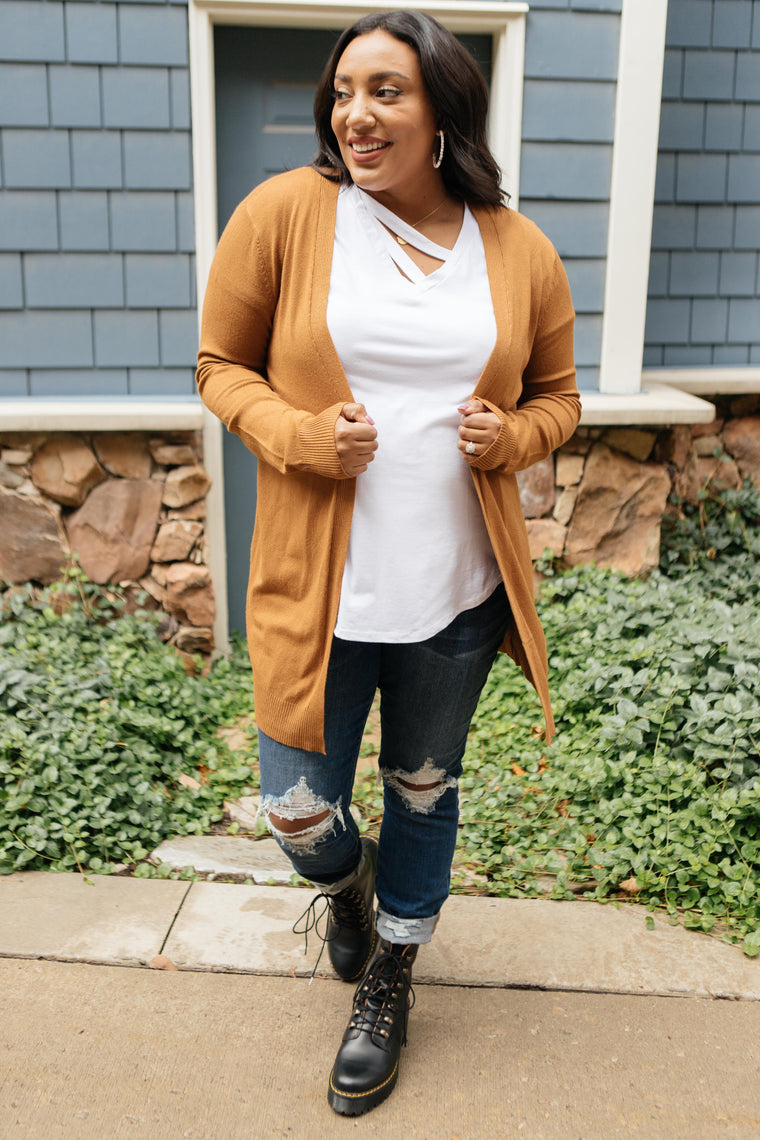 Million Dollar Caramel Cardigan