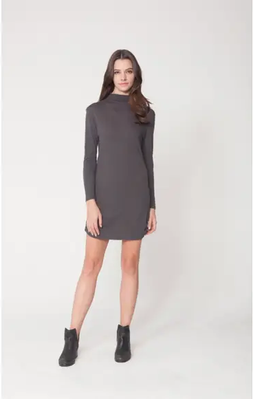 Hanworth Jersey Dress - Charcoal