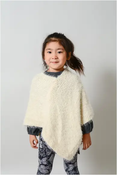 Faux Mohair Children's Poncho