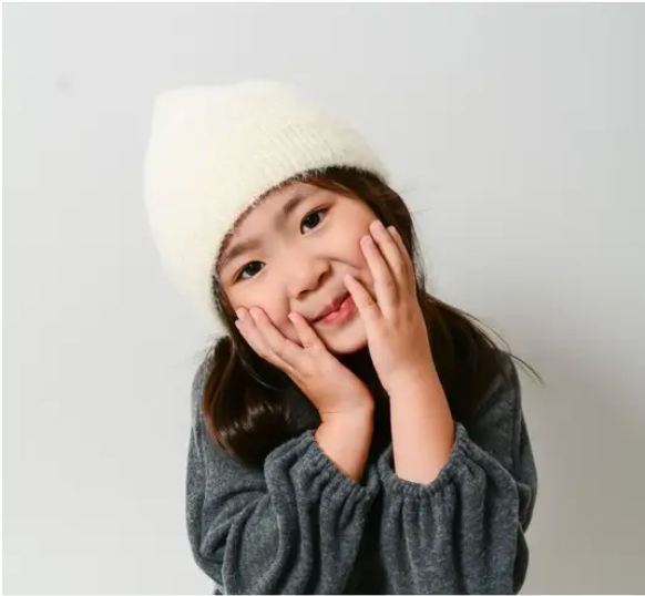 Ultra Soft Mohair Kids Beanie