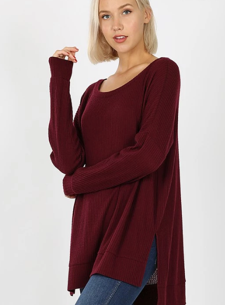 Avery Top - Burgundy