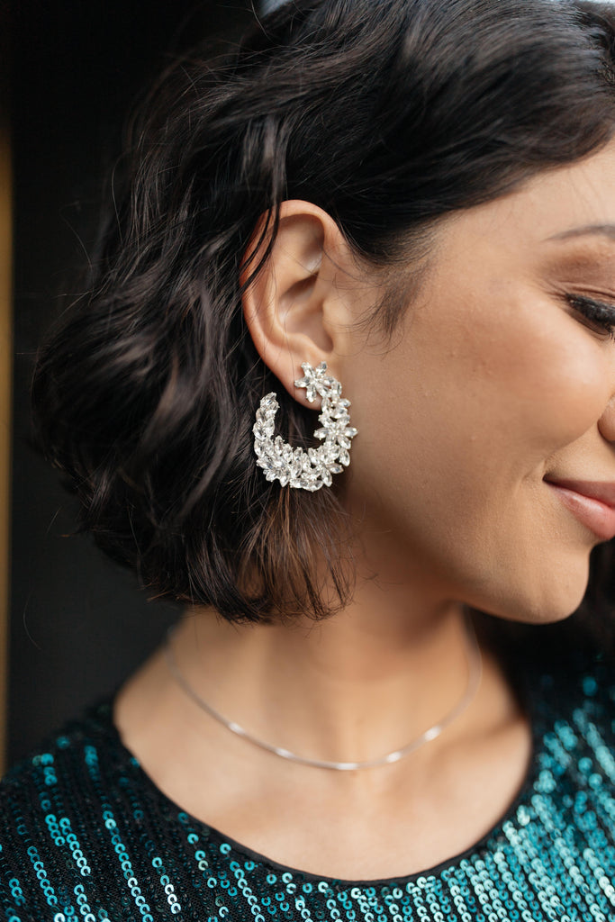 the Crystal Wreath Earrings