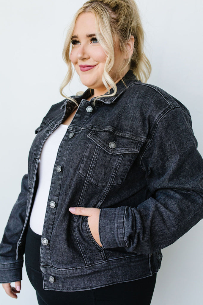 Black Magic Judy Blue Jean Jacket