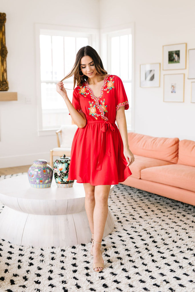 Brooklyn Embroidered Dress