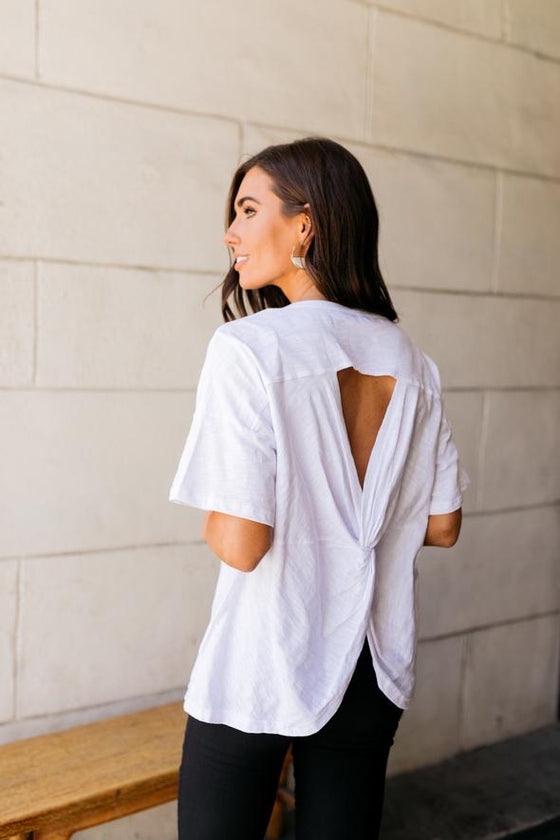 Make The Cut Twist Back Top