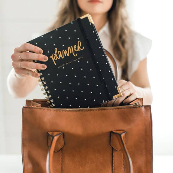 Black Polkadot Planner | August 2019 - July 2020