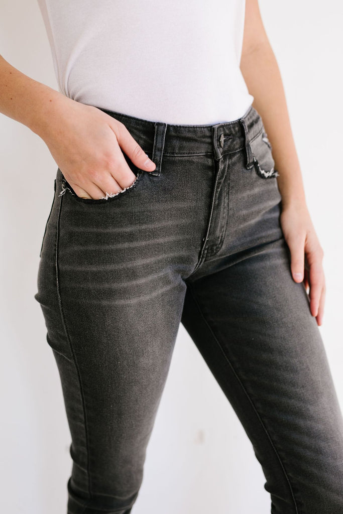 Grey Skies Mid-Rise Jeans