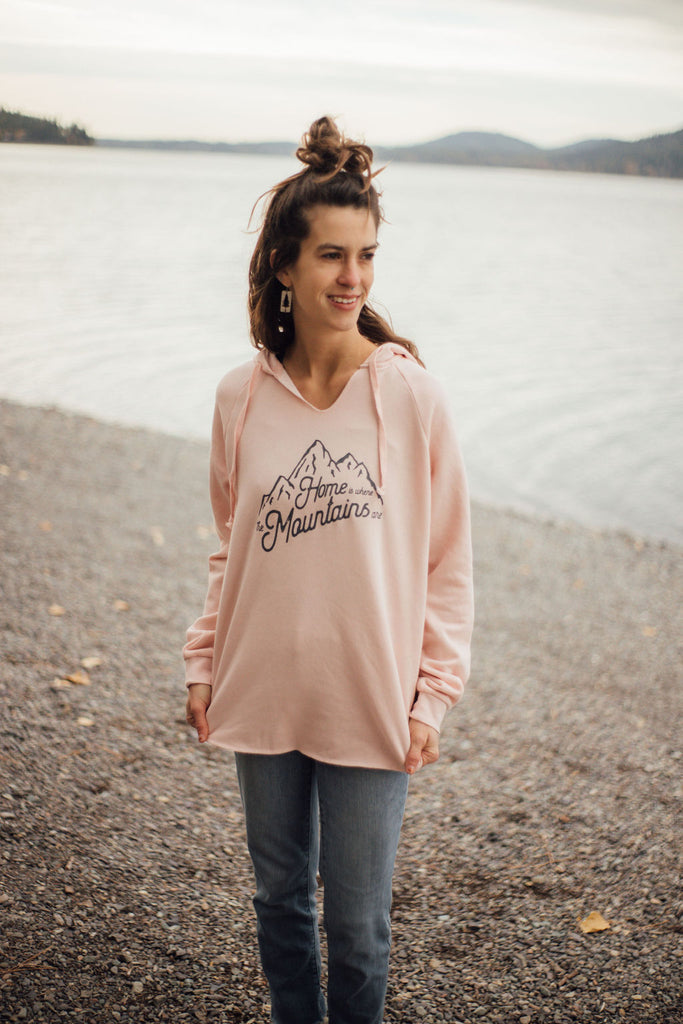 Home is Where the Mountains Are - Ladies light Pink