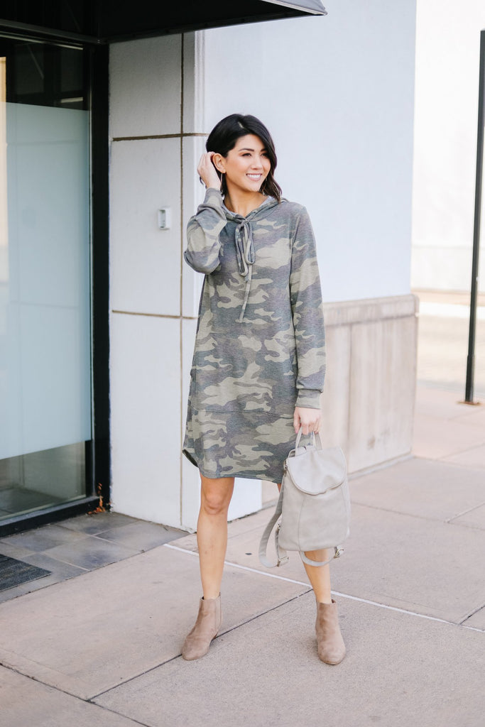 In plain sight camouflage dress