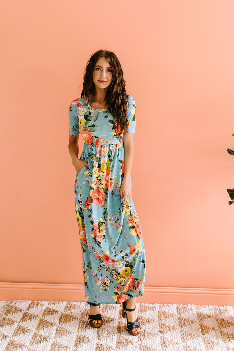 Morning Rendezvous Floral Maxi Dress
