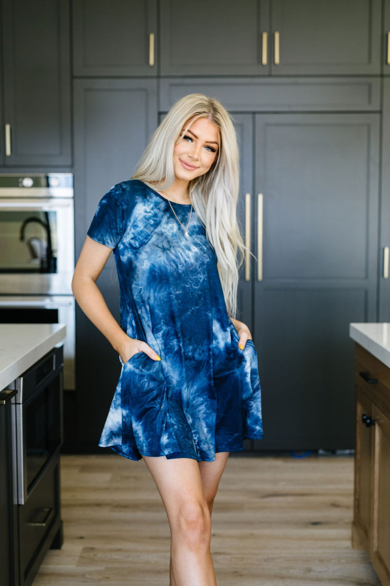 pacific waters tie dye t shirt dress