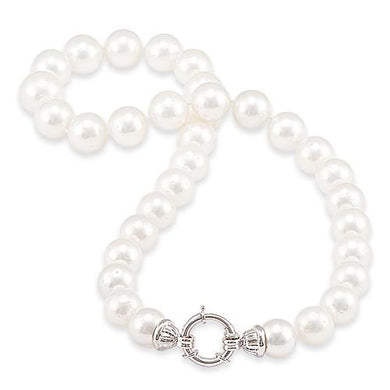 South Sea White Pearl Strand in 14K White Gold (12-15mm)