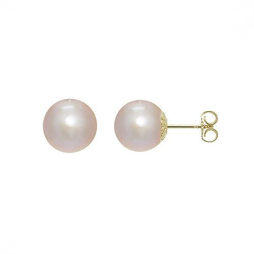 14k White Gold Freshwater Pearl Earrings (9mm) 006-14127