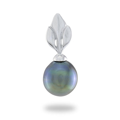 Tahitian Black Pearl Pendant in 14K White Gold (8-10mm)