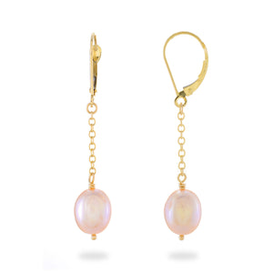 Cascading Freshwater Pearl Earrings in 14K Yellow Gold, 8-8.5mm 006-14420