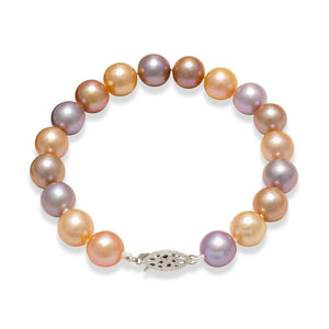 Freshwater Pearl Bracelet in 14K White Gold (9-10mm)
