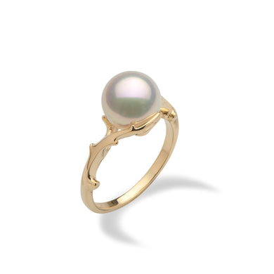 Hawaiian Heritage Akoya Pearl Ring in 14K Yellow Gold  (9-9.5mm)