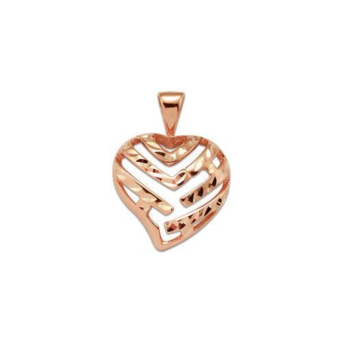 Aloha heart pendant in 14k rose gold 9mm 24mm aloha heart pendant in 14k rose gold 9mm 24mm 14k mozeypictures Image collections