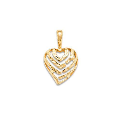 Aloha heart pendant in 14k yellow gold 9mm 30mm aloha heart pendant in 14k yellow gold 9mm 30mm 14k mozeypictures Image collections